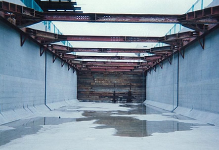 水路での施工例