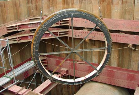 円形使用での施工例(下水道)